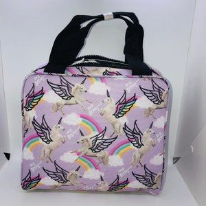 Betsey Johnson Bags - Lavender Insulated Unicorns & Rainbows Lunch Bag